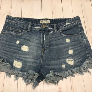 Free People Distressed Denim Shorts Size 29